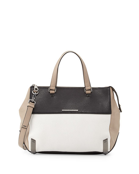 Shelter Island Colorblock Leather Satchel Bag