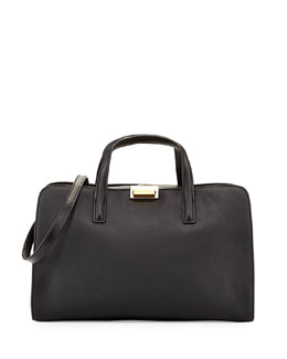 MARC by Marc Jacobs In The Grain Leather Satchel Bag, Black