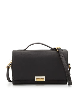 MARC by Marc Jacobs In the Grain Nahee Leather Satchel Bag, Black