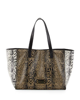 MARC by Marc Jacobs Here's the T Snake-Print Tote Bag, Brindle Multi
