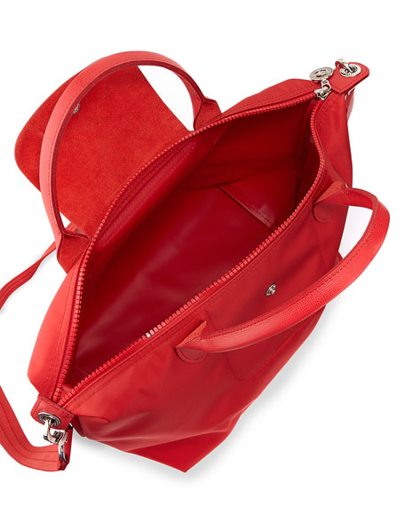 Le Pliage Neo Shoulder Tote with Strap, Poppy