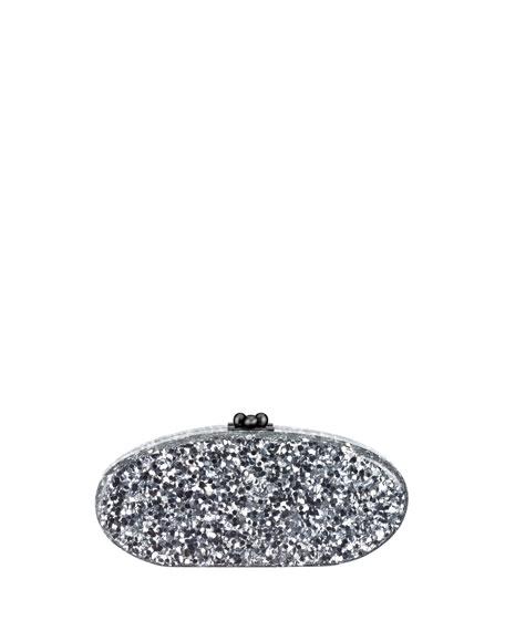 Edie Parker Edie Confetti Acrylic Clutch Bag, Silver