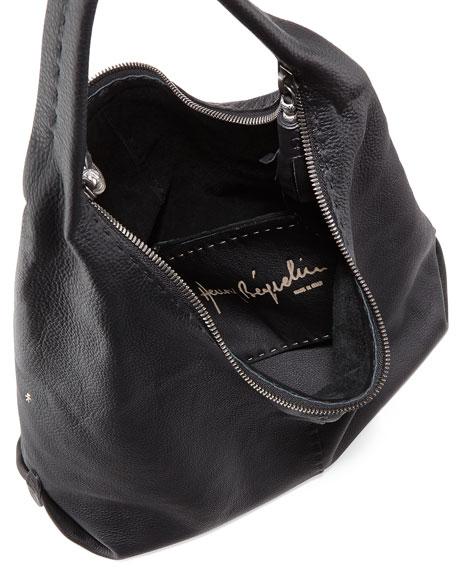 Canotta Leather Hobo Bag, Black