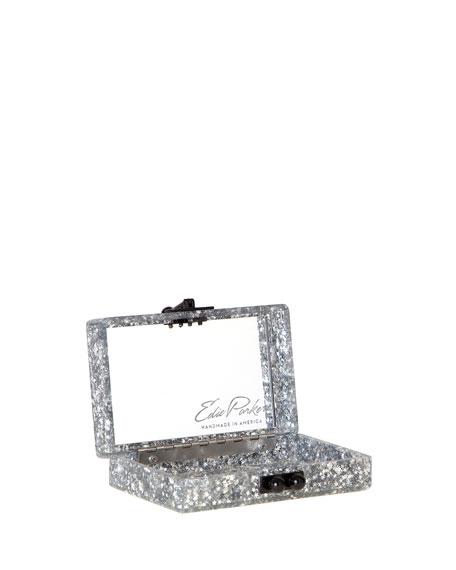Minnie Star Confetti Clutch Bag, Silver