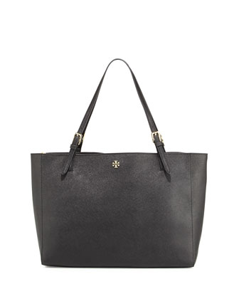 Tory Burch Tory Burch York Saffiano Leather Tote Bag, Black