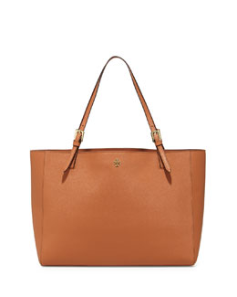 Tory Burch York Saffiano Leather Tote Bag, Luggage