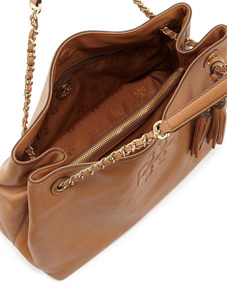 Thea Large Chain Tote Bag, Bark