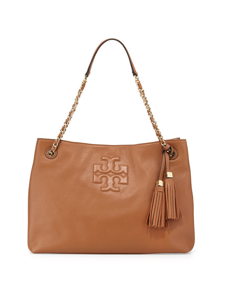Thea Large Chain Tote Bag, Bark