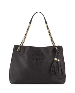 Tory Burch Thea Large Chain Tote Bag, Black