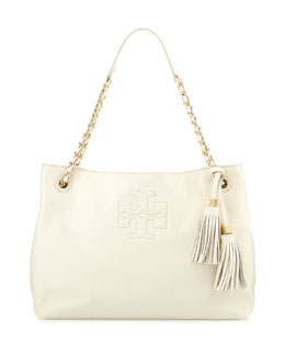 Tory Burch Thea Chain-Strap Tote Bag, New Ivory