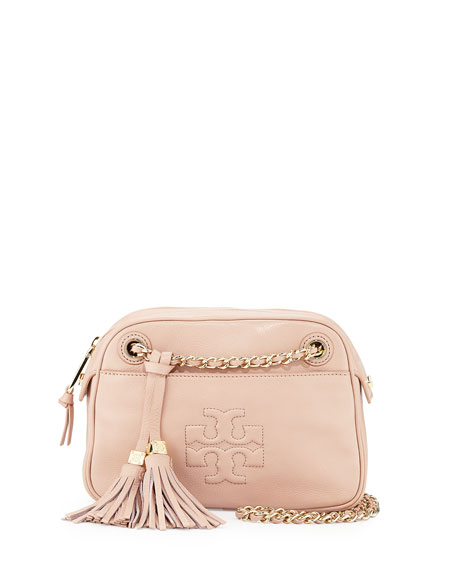 Thea Chain-Strap Crossbody Bag, Light Oak