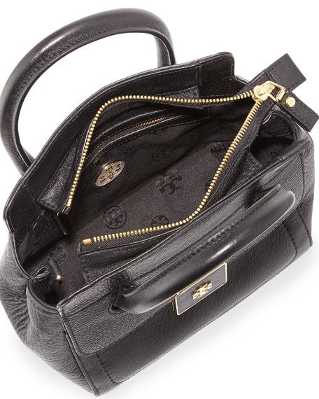 Clara Small Crossbody Tote Bag, Black