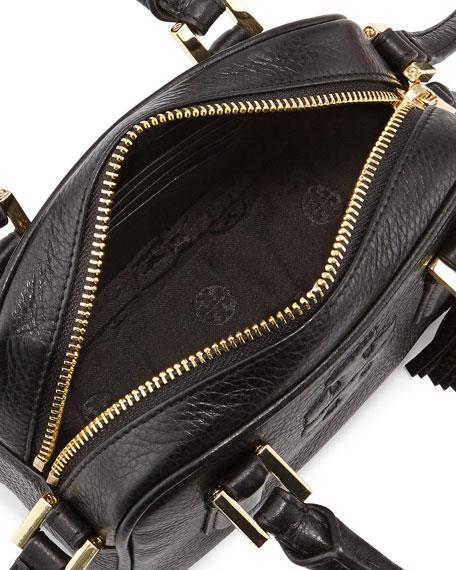 Thea Mini Crossbody Satchel Bag, Black