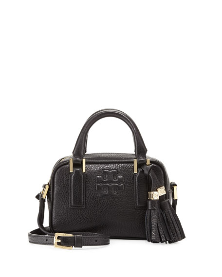 Thea Mini Crossbody Satchel Bag, Black