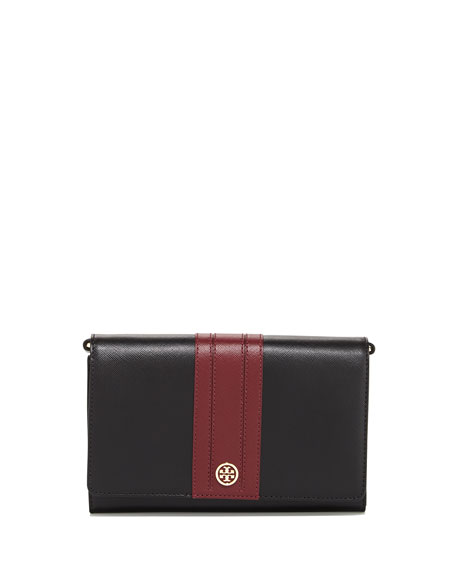 Robinson Stripe Wallet-on-Chain, Black