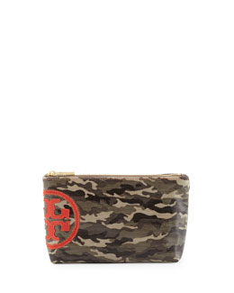 Tory Burch Small Camo Slouchy Cosmetic Case