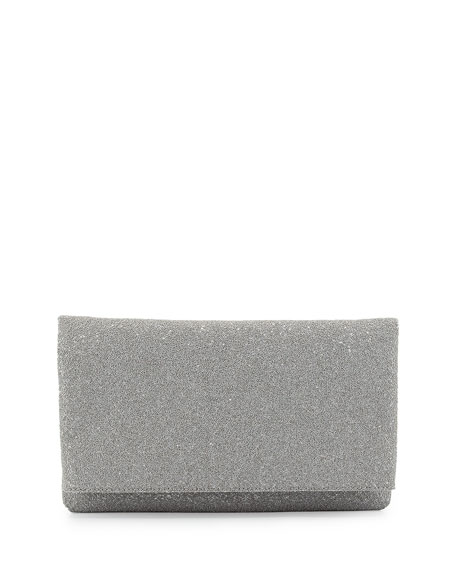 Me Caviar Beaded Clutch Bag, Silver