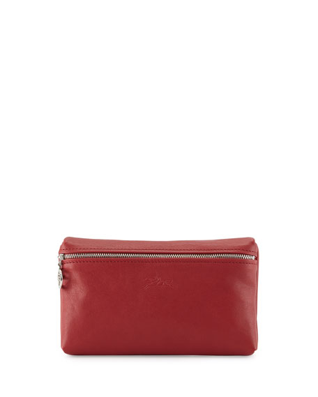 Le Pliage Cuir Cosmetics Case, Red