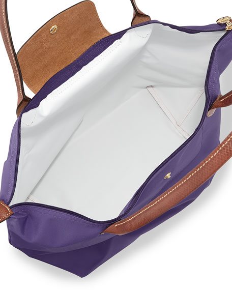 Le Pliage Large Shoulder Tote Bag, Amethyst