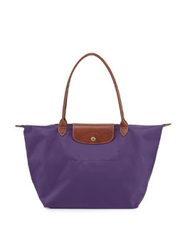 Longchamp Le Pliage Large Shoulder Tote Bag, Amethyst