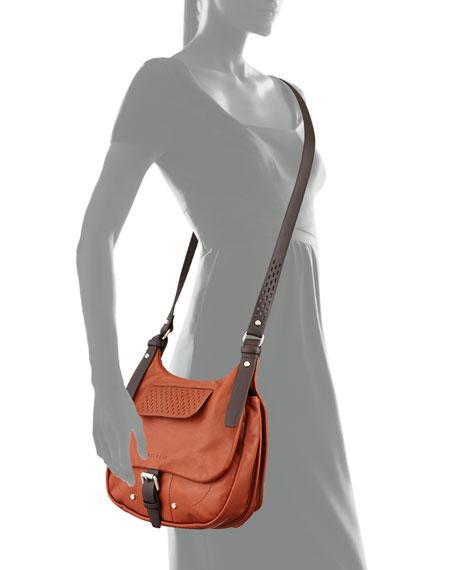 Balzane Roots Leather Crossbody Bag, Cognac