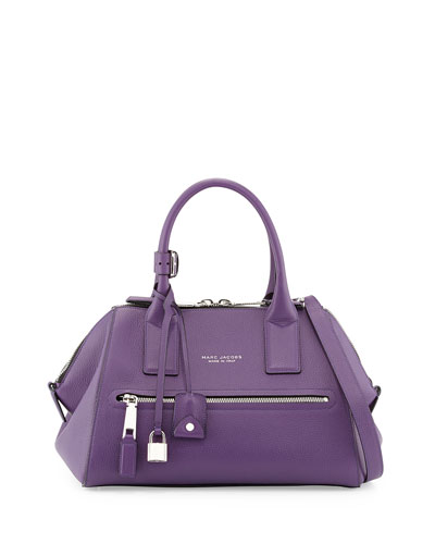 Marc Jacobs Incognito Small Leather Satchel Bag, Purple