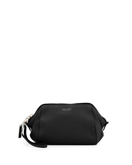 Incognito Leather Wristlet Doctor Bag, Black