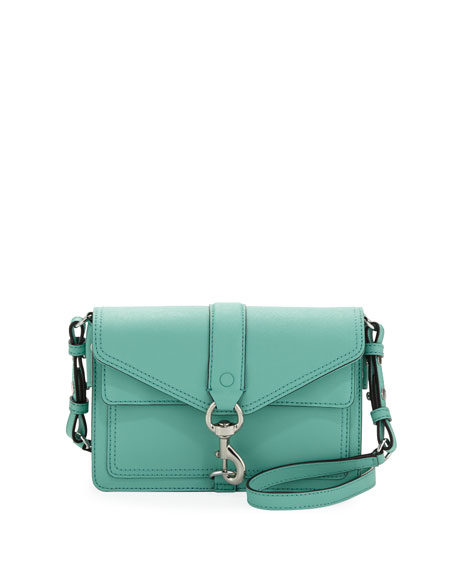 Hudson Mini Moto Crossbody Bag, Minty