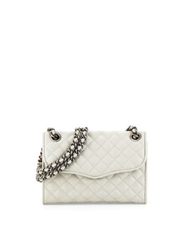 Rebecca Minkoff Quilted Affair Mini Shoulder Bag, Pale Gray