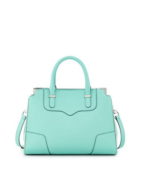 Amorous Saffiano Satchel Bag, Minty