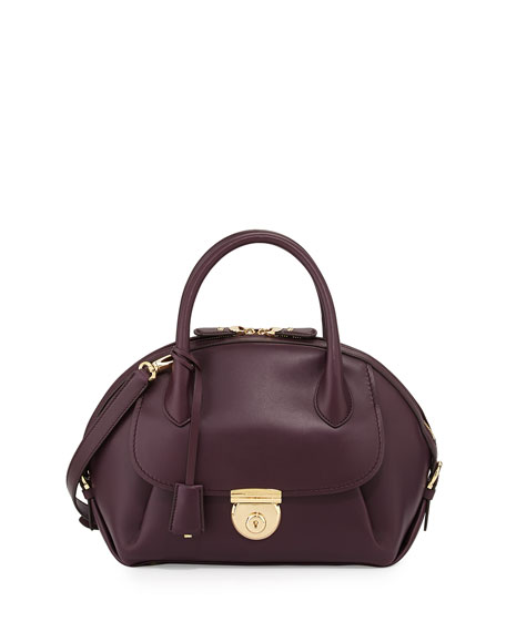 1c66bcf75019 Salvatore Ferragamo Fiamma Domed Satchel Bag