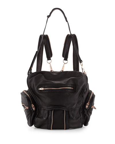 Alexander Wang Marti Soft-Wash Lambskin Backpack, Black