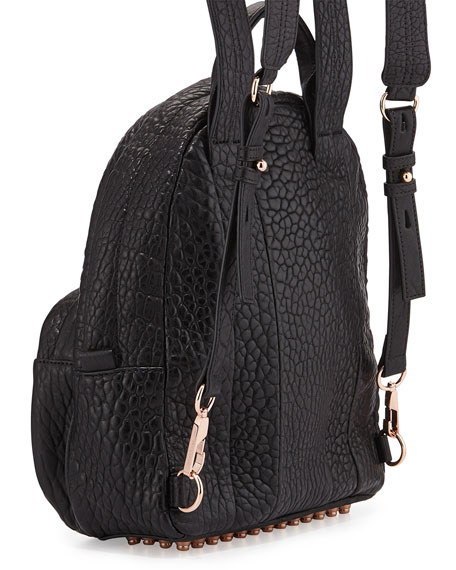 Dumbo Leather Backpack, Black/Rose Gold