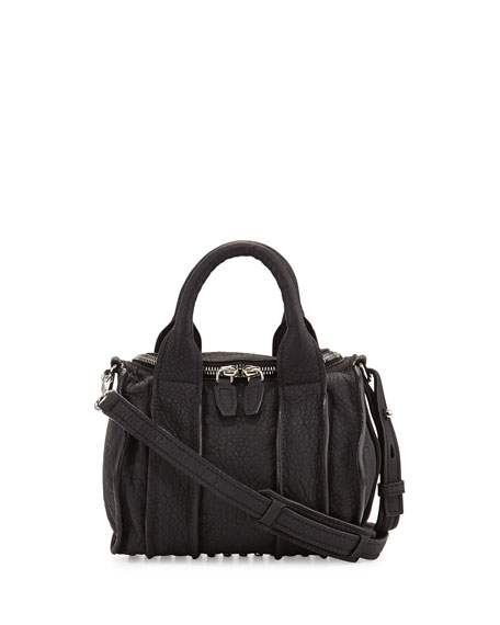 Inside-Out Rockie Small Crossbody Satchel, Black