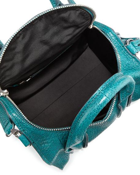 Rockie Inside-Out Small Crossbody Satchel Bag, Dark Mosaic