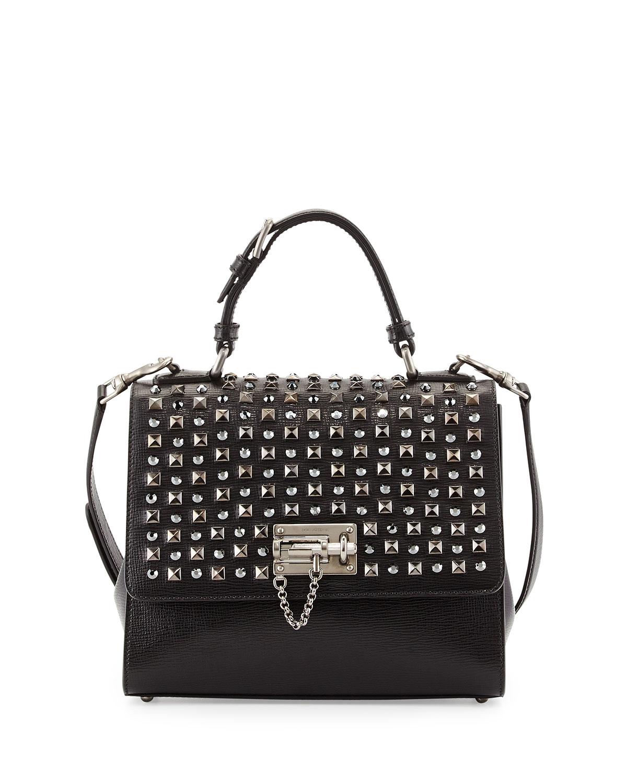 825c092c9a Dolce   Gabbana Monica Studded Lock Satchel Bag