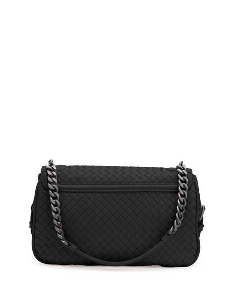 Intrecciato Rialto Shoulder Bag, Black
