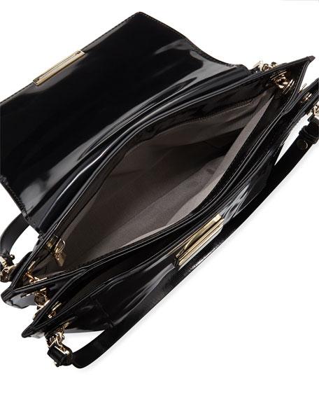 Christy Leather Shoulder Bag, Black