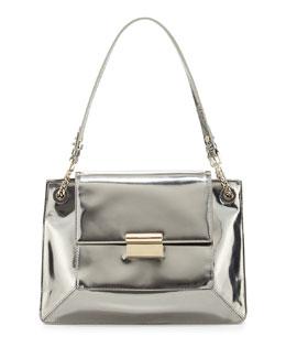 Jason Wu Christy Metallic Leather Shoulder Bag, Silver