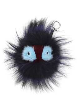 Fendi Fur Monster Charm for Handbag