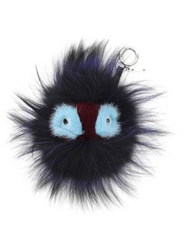 Fendi Fur Monster Charm for Handbag