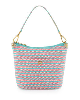 Eric Javits Dame Two-Tone Bucket Shoulder Bag
