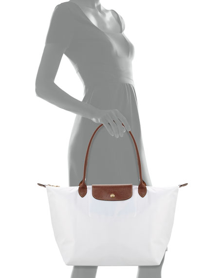 Le Pliage Large Shoulder Tote Bag, White