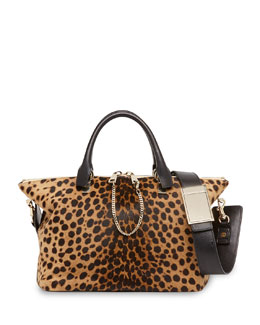 Chloe Baylee Calf Hair Medium Satchel Bag, Leopard