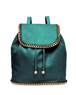 Stella McCartney Falabella Drawstring Backpack, Forest Green