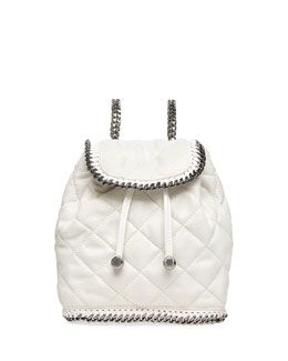 Stella McCartney Falabella Quilted Mini Backpack, Chalk