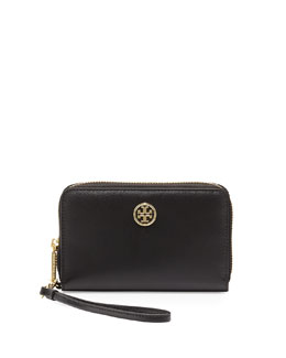 Tory Burch Robinson Smart-Phone Wristlet Wallet, Black