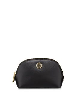 Tory Burch Robinson Saffiano Small Makeup Bag, Black