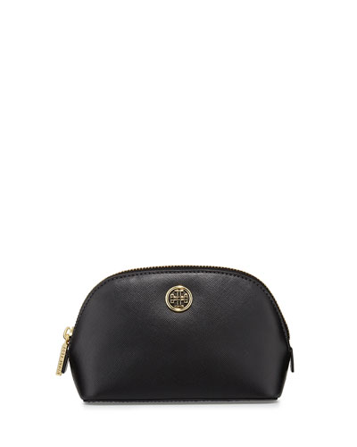 Robinson Saffiano Small Makeup Bag, Black