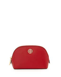 Tory Burch Robinson Saffiano Small Makeup Bag, Kir Royale